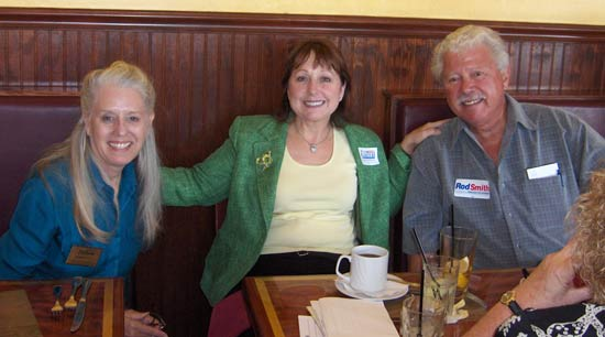 Lunch with DeeDee :   State House candidate Catherine Hilton and DEC Chair Dave Dew joined DeeDee Smith for lunch at the Ashley.