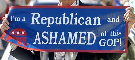 Ashamed to be GOP