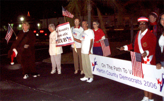 The Democratic Club leads the Democrats at the Christmas Parade in Stuart