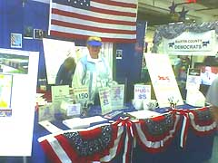 Democratic Party Booth at the Martin County Fair